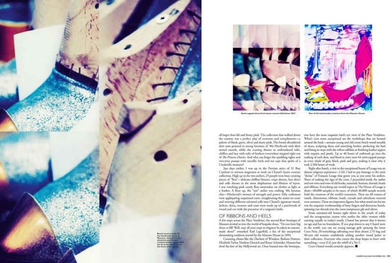 Gan Shoots the November 2012 Cover of Harper's Bazaar Singapore