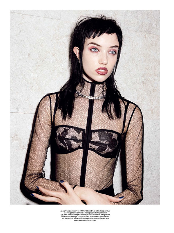 Grace Hartzel Dons Bulgari for Greta Ilieva's Wonderland Magazine Shoot