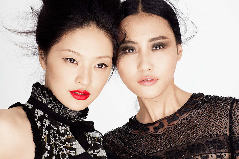 gucci makeup5 Amber Gray Lenses Glam Beauty Looks for Marie Claire China