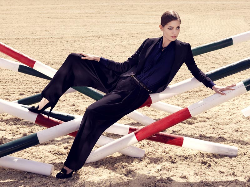 gucci1 Nadja Bender and Maud Welzen Get Equestrian for Gucci Style by Benjamin Grillon