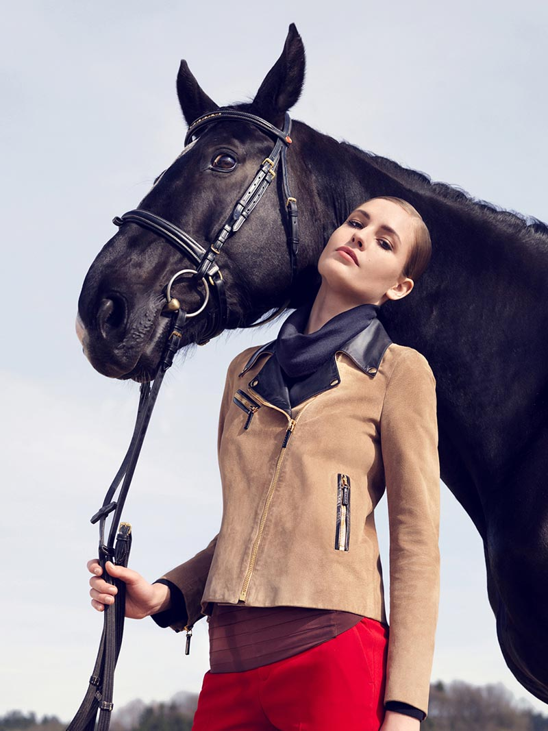 gucci5 Nadja Bender and Maud Welzen Get Equestrian for Gucci Style by Benjamin Grillon