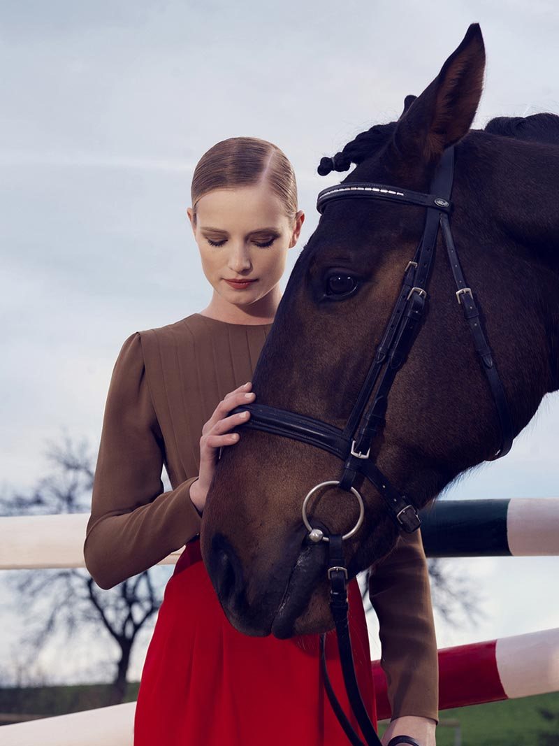 gucci6 Nadja Bender and Maud Welzen Get Equestrian for Gucci Style by Benjamin Grillon