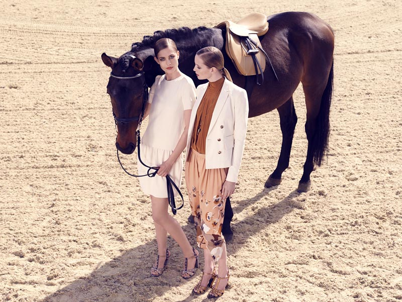 gucci7 Nadja Bender and Maud Welzen Get Equestrian for Gucci Style by Benjamin Grillon