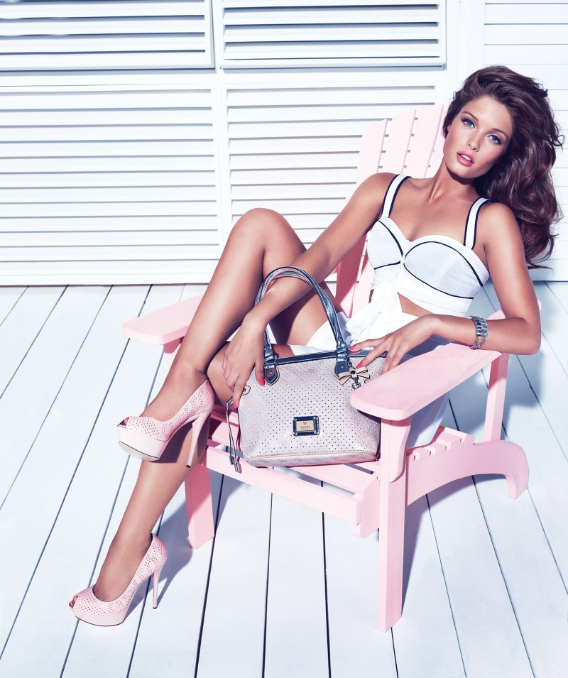 Sandrah Hellberg is Pin-up Glam for the Guess Accessories Holiday 2012 Campaign by Claudia & Ralf Pulmanns