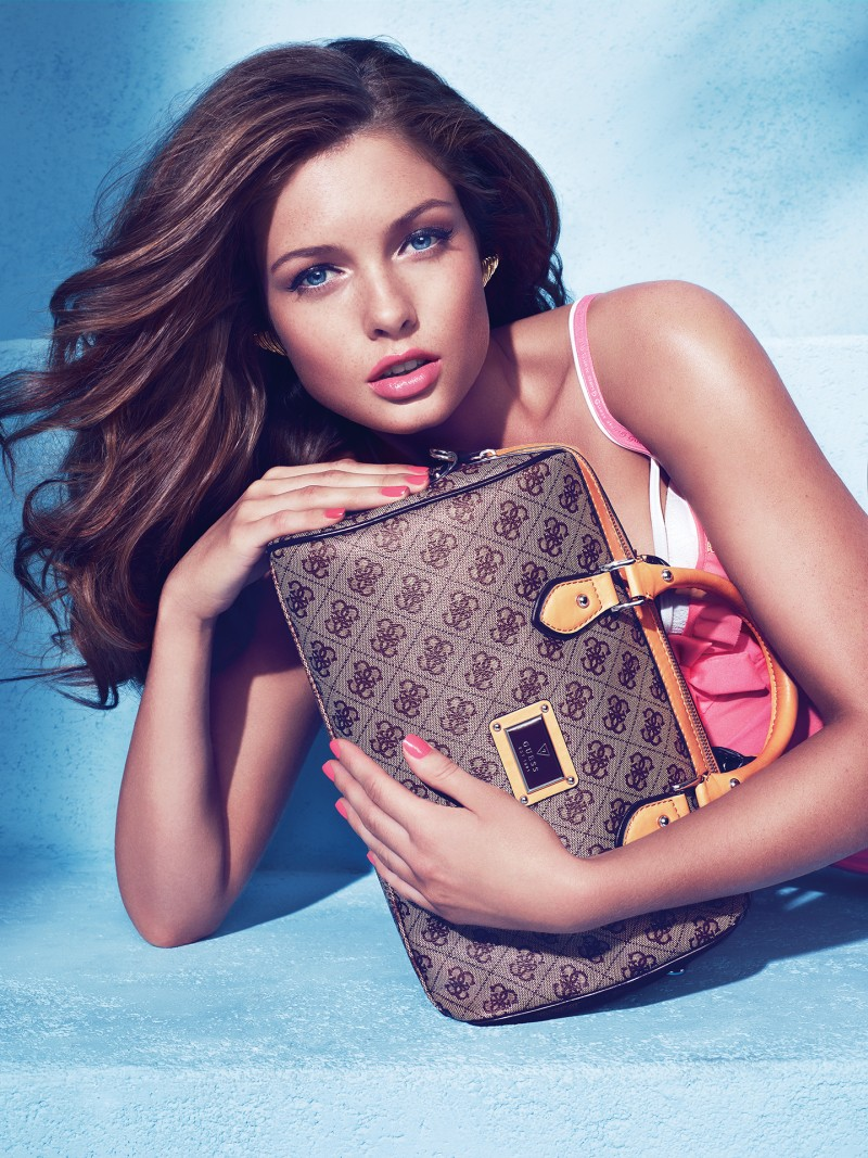 guess holiday15 Sandrah Hellberg is Pin up Glam for the Guess Accessories Holiday 2012 Campaign by Claudia & Ralf Pulmanns