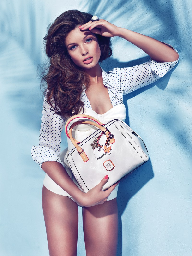 guess holiday7 Sandrah Hellberg is Pin up Glam for the Guess Accessories Holiday 2012 Campaign by Claudia & Ralf Pulmanns