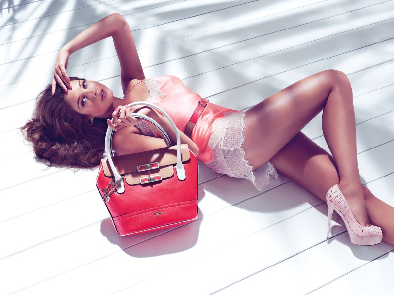 guess holiday8 Sandrah Hellberg is Pin up Glam for the Guess Accessories Holiday 2012 Campaign by Claudia & Ralf Pulmanns