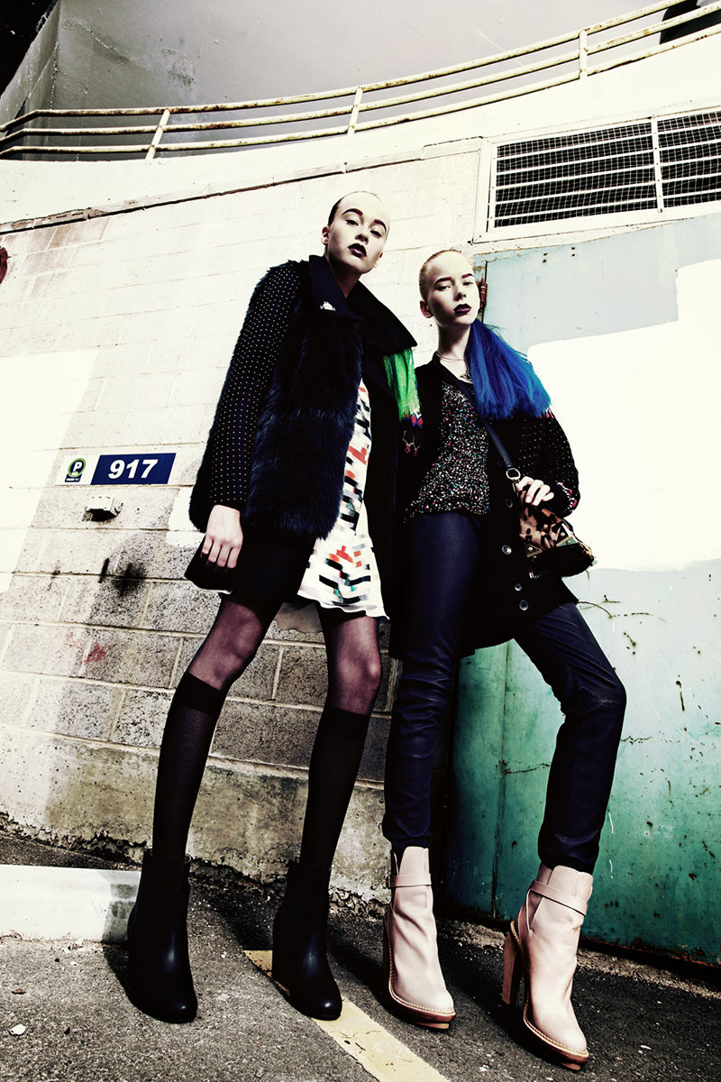"""Sam Ypma and Kendall Graham by Tina Chang in """"High Impact"""" for Fashion Gone Rogue"""