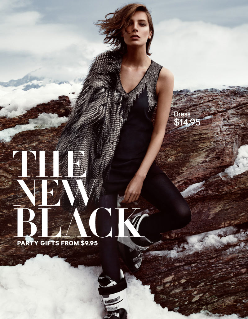 hm holiday10 Daria Werbowy Hits the Slopes for H&Ms Love the Holidays Winter 2012 Campaign
