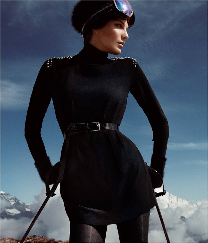 hm holiday11 Daria Werbowy Hits the Slopes for H&Ms Love the Holidays Winter 2012 Campaign
