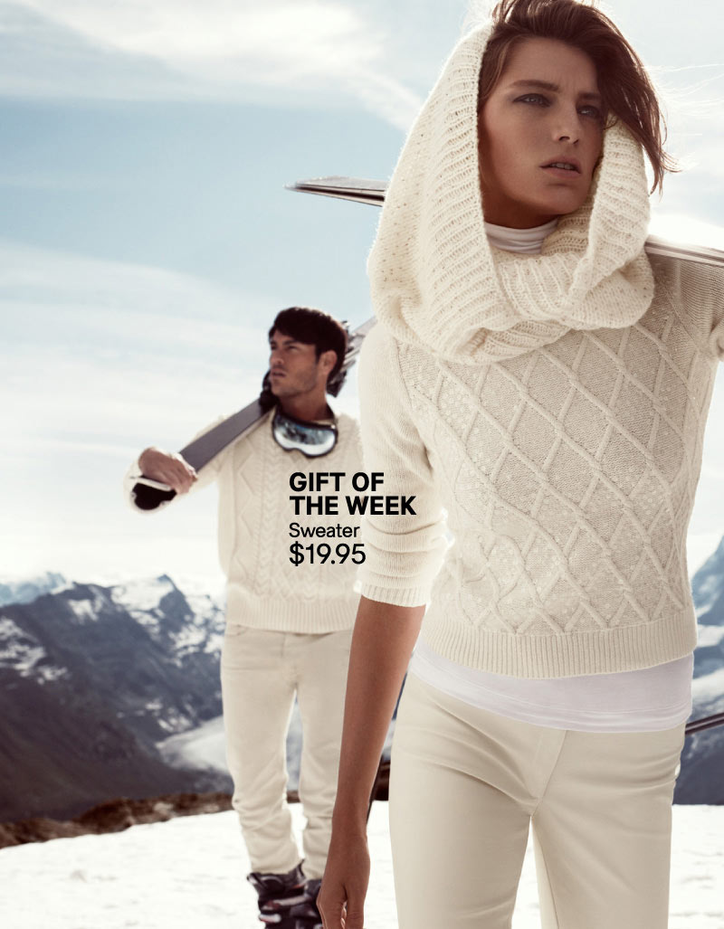 hm holiday2 Daria Werbowy Hits the Slopes for H&Ms Love the Holidays Winter 2012 Campaign