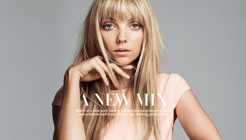 """Heather Marks Models The """"New Mix"""" from H&M"""