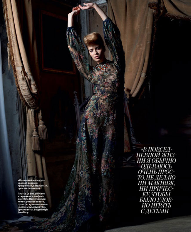 Elena Perminova Poses in Couture for Eric Guillemain's InStyle Russia Shoot