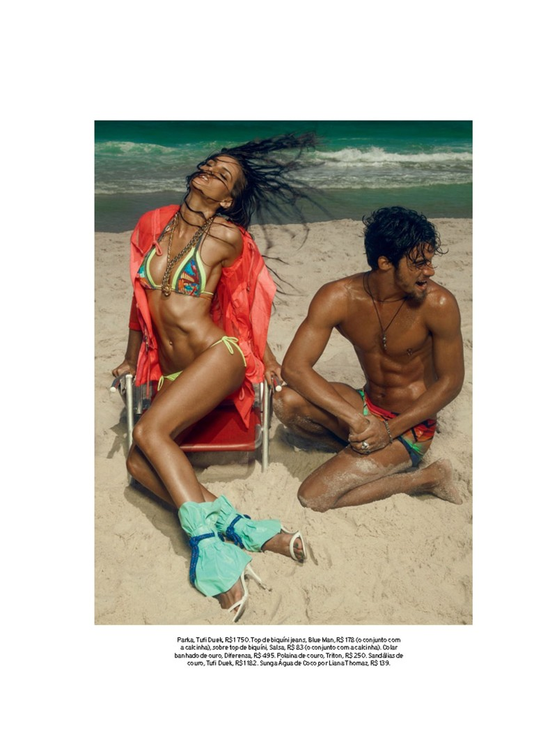 izabel goulart7 Izabel Goulart Rocks Sexy Beachwear Looks for Elle Brazil