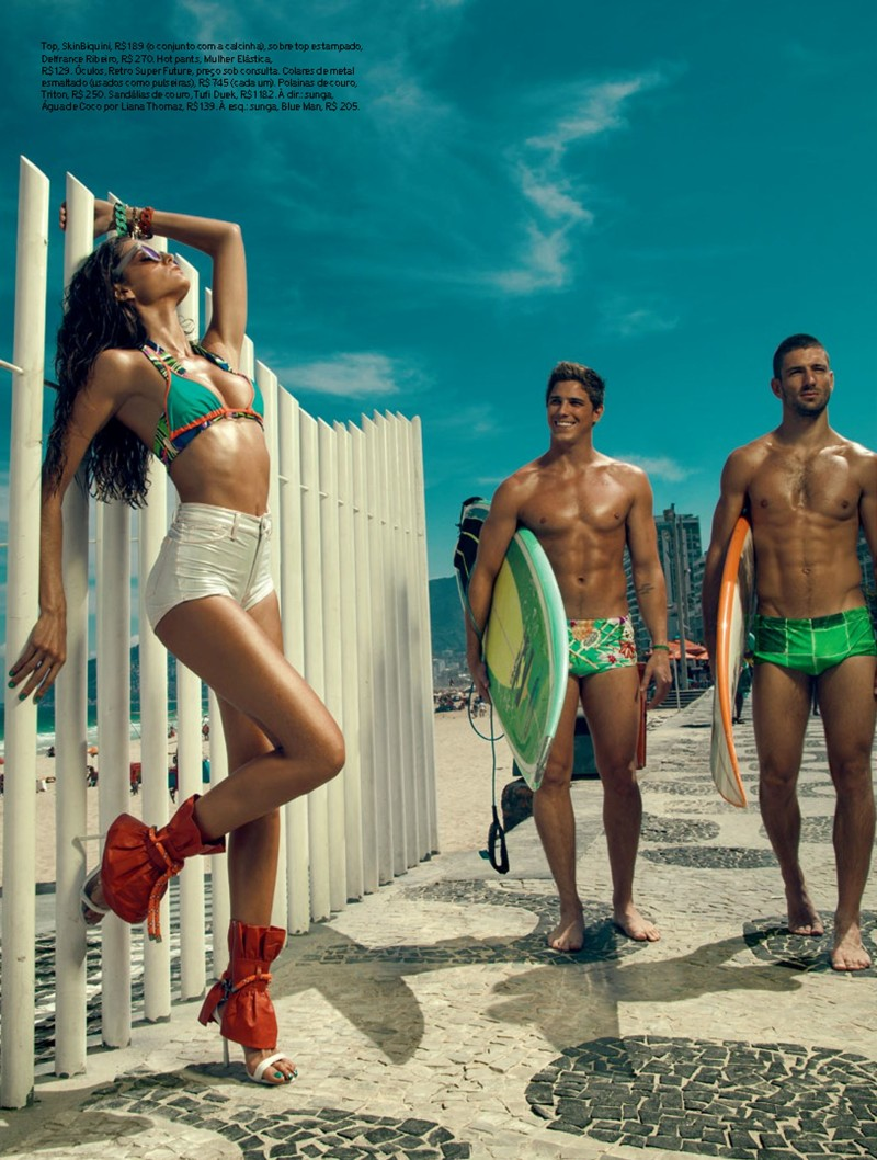 izabel goulart8 Izabel Goulart Rocks Sexy Beachwear Looks for Elle Brazil