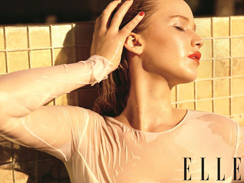 jennifercover3 Jennifer Lawrence is White Hot in Balenciaga for Elle US December 2012 Cover