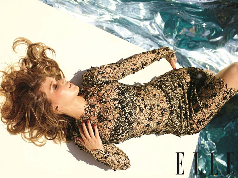 jennifercover4 Jennifer Lawrence is White Hot in Balenciaga for Elle US December 2012 Cover