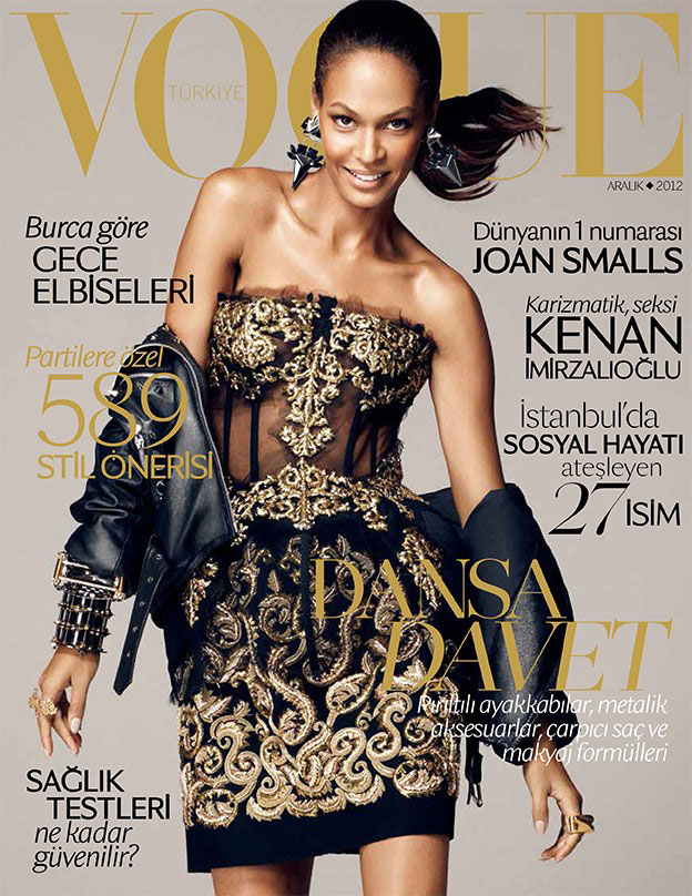 joan1 Joan Smalls Dons Dolce & Gabbana for Vogue Turkeys December 2012 Cover