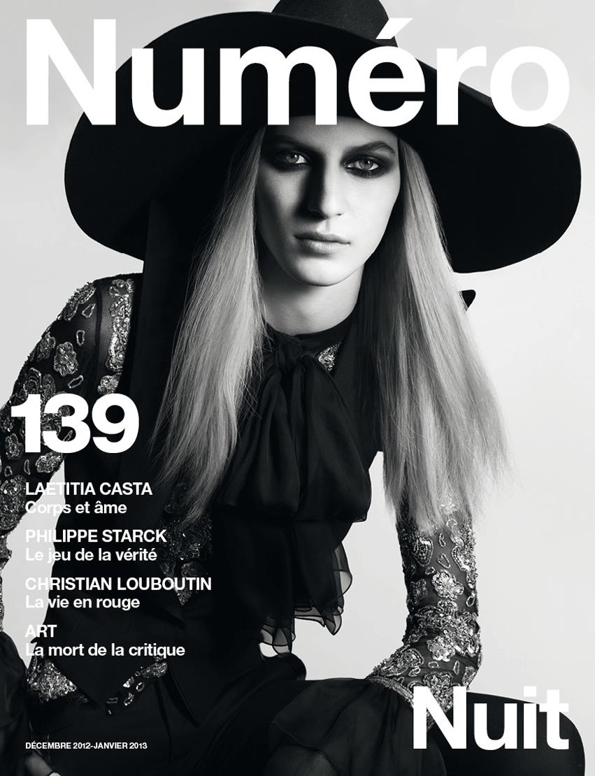 juliacover Julia Nobis is Bewitching in Saint Laurent for the Cover of Numéro #139