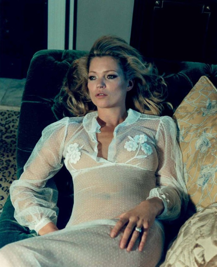 kate moss2 Kate Moss Poses for Venetia Scott in Centrefolds F/W 2012 Cover Shoot