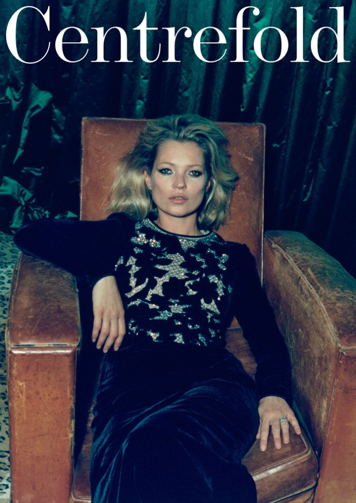 kate moss5 Kate Moss Poses for Venetia Scott in Centrefolds F/W 2012 Cover Shoot