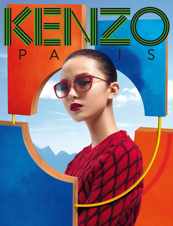 kenzo Xiao Wen Stars in Kenzo Accessories Fall/Winter 2012 Campaign by Frederik Heyman