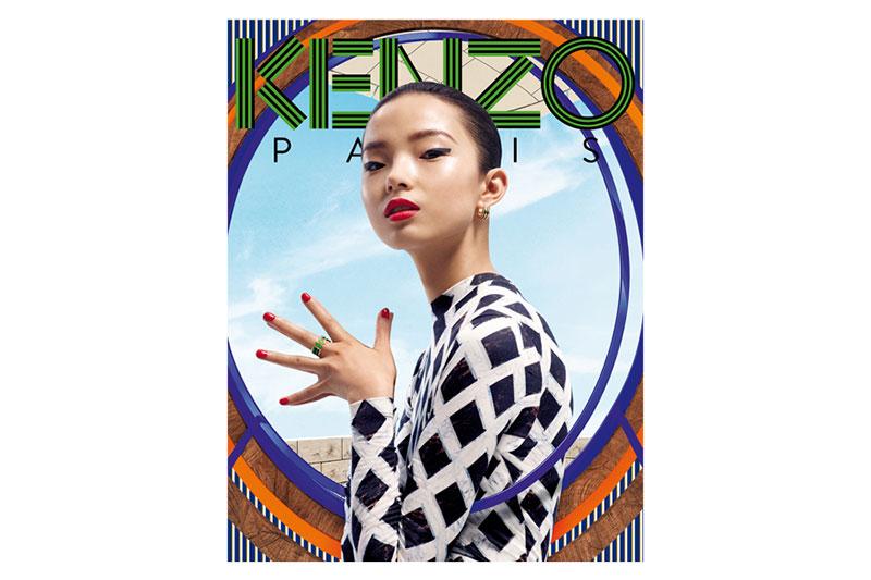 Xiao Wen Stars in Kenzo Accessories Fall/Winter 2012 Campaign by Frederik Heyman