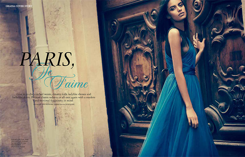 lakshmi menon2 Lakshmi Menon Takes on Paris in Dior for Grazia Indias October 2012 Cover Shoot