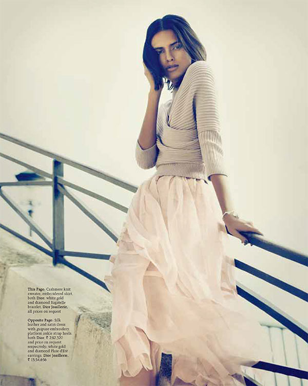 lakshmi menon4 Lakshmi Menon Takes on Paris in Dior for Grazia Indias October 2012 Cover Shoot