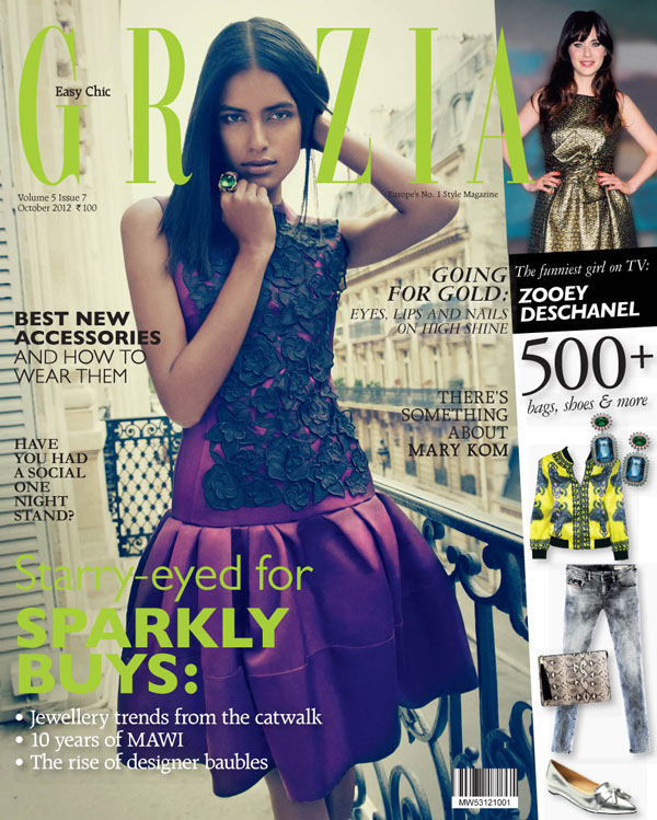 lakshmi menon8 Lakshmi Menon Takes on Paris in Dior for Grazia Indias October 2012 Cover Shoot