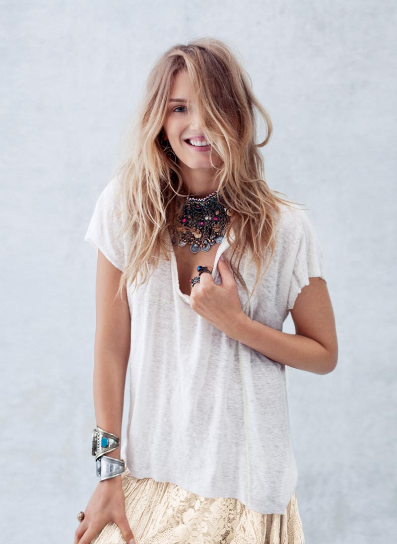 Lily Donaldson Poses For Free People S December Catalogue