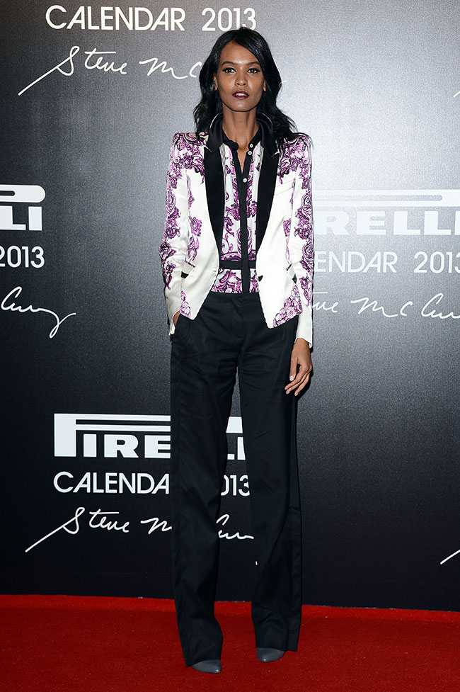 liya Liya Kebede in Roberto Cavalli at the 2013 Pirelli Calendar Unveiling
