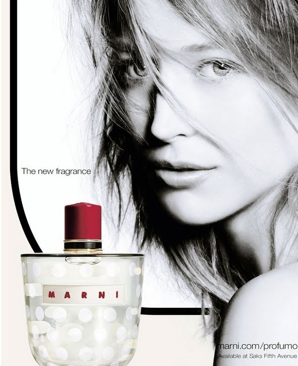 Raquel Zimmermann Appears in the Marni Fragrance Campaign by Nick Knight