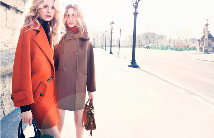Magdalena Frackowiak and Josephine Skriver Don Elegant Style for the Max&Co. Fall 2012 Campaign