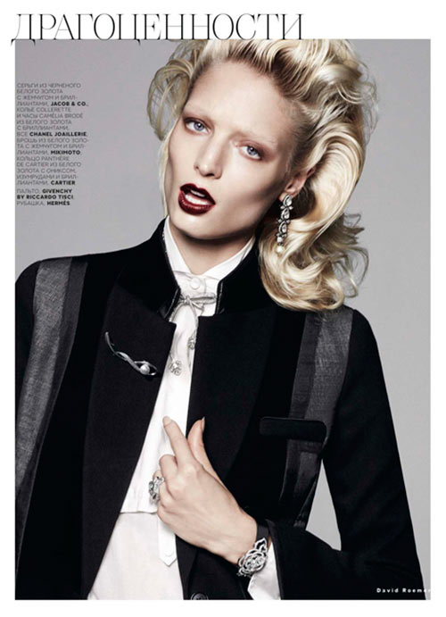 melissa3 Melissa Tammerijn Suits Up for Vogue Russia December 2012 by David Roemer