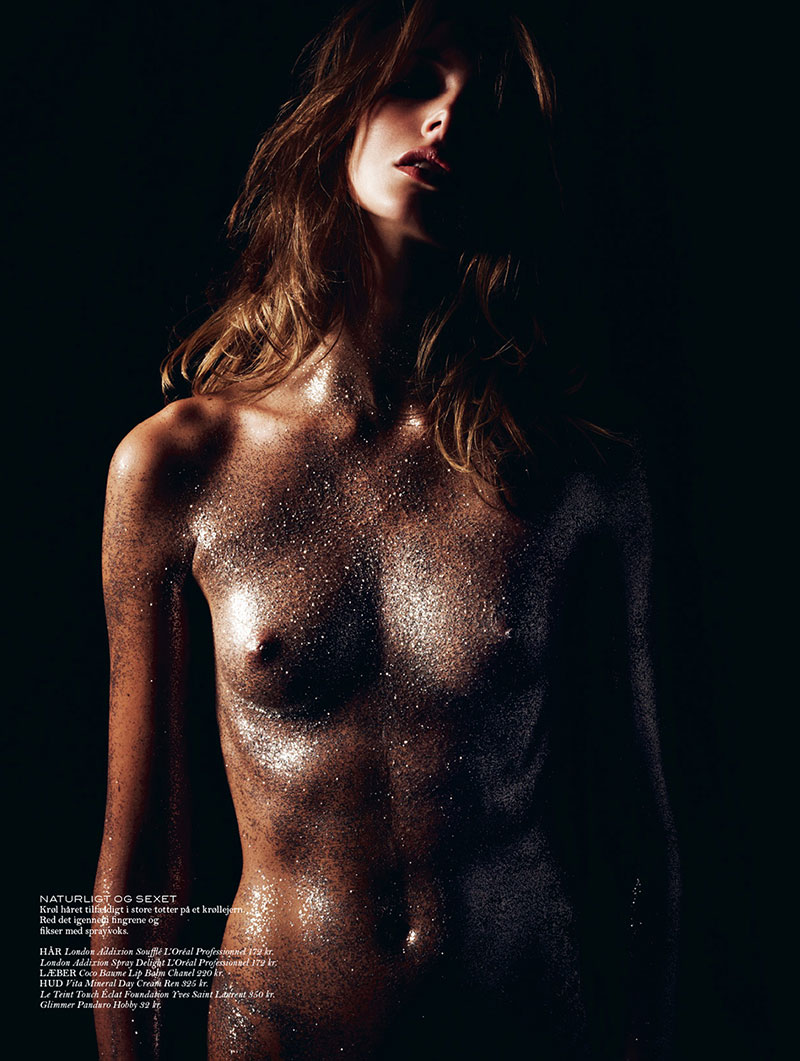 Mona Johannesson Shines in Cover Magazine, Lensed by Hasse Nielsen