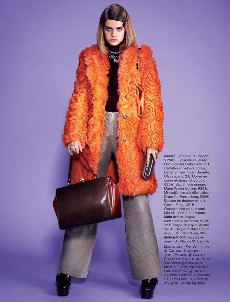 naomi glamour10 Rintje van Witjck is First Class for Naomi Yangs Glamour France Shoot