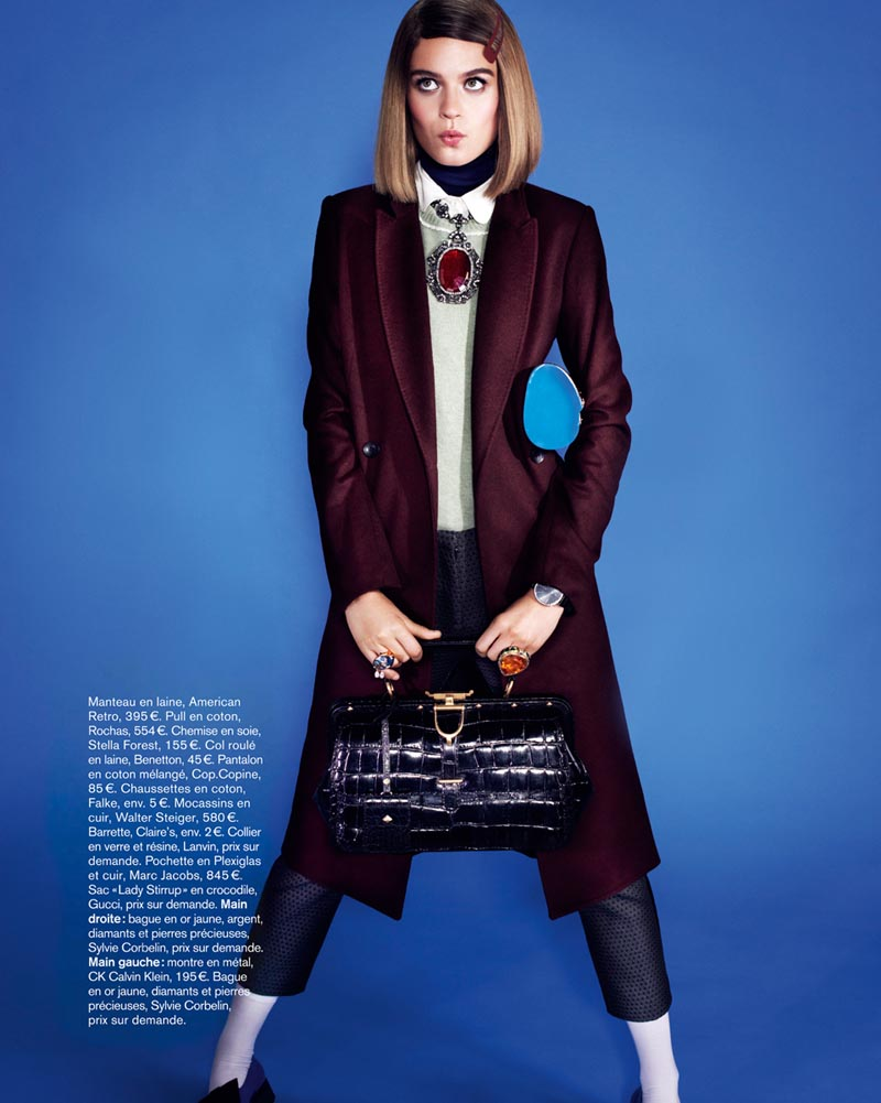 naomi glamour4 Rintje van Witjck is First Class for Naomi Yangs Glamour France Shoot
