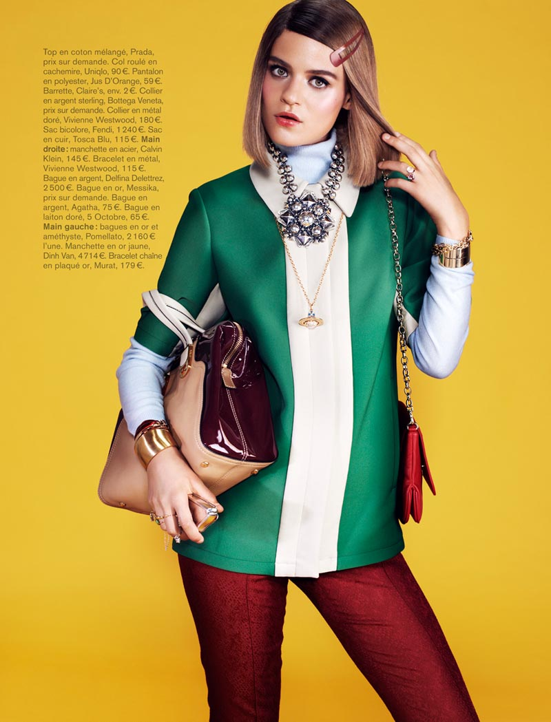 naomi glamour7 Rintje van Witjck is First Class for Naomi Yangs Glamour France Shoot