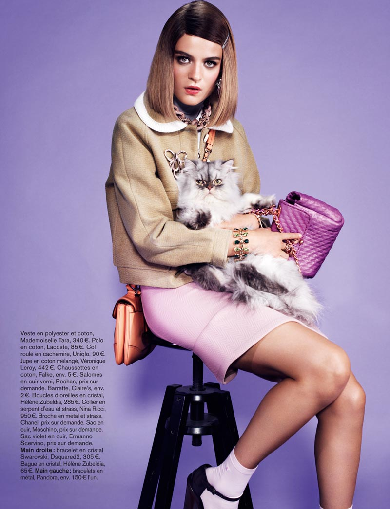 naomi glamour8 Rintje van Witjck is First Class for Naomi Yangs Glamour France Shoot