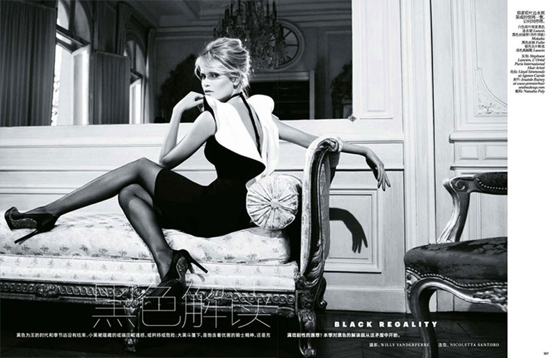 Natasha Poly is Alluring in Vogue China November 2012 by Willy Vanderperre