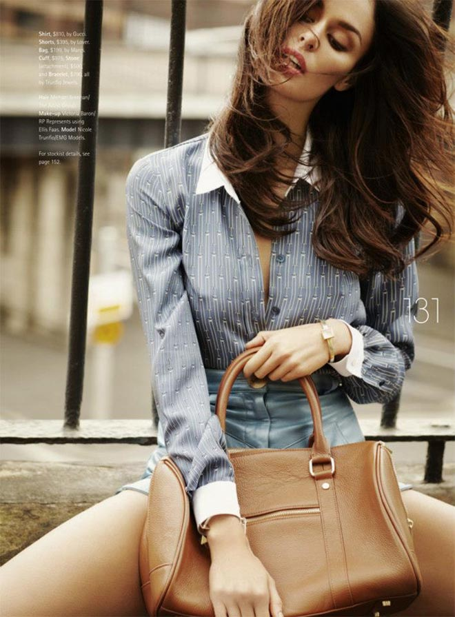 nicole trunfio3 Nicole Trunfio Sports Relaxed Style for Madison Magazine by SImon Upton