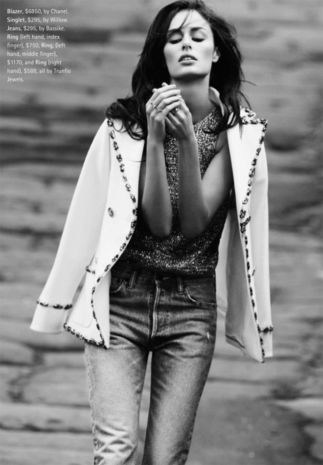 nicole trunfio4 Nicole Trunfio Sports Relaxed Style for Madison Magazine by SImon Upton