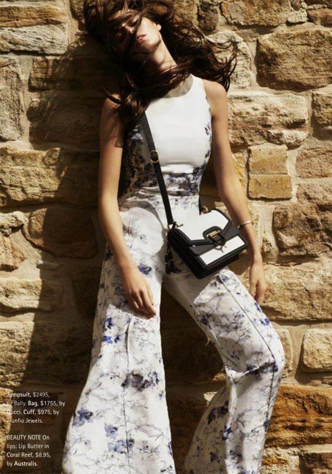 Nicole Trunfio Sports Relaxed Style for Madison Magazine by SImon Upton