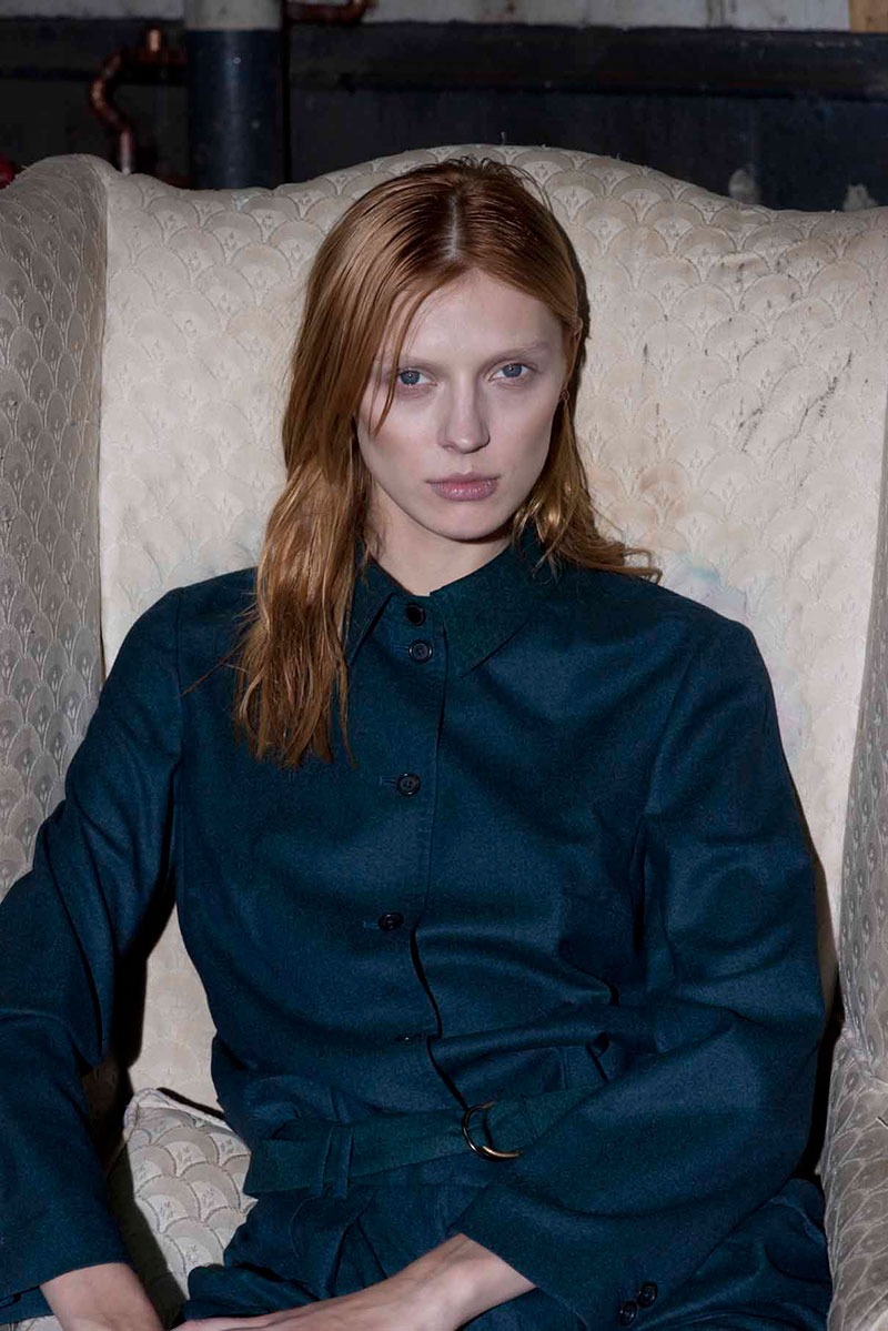 Olga Sherer Dons the Elegance of Paul Smith for Interview Russia's December Issue