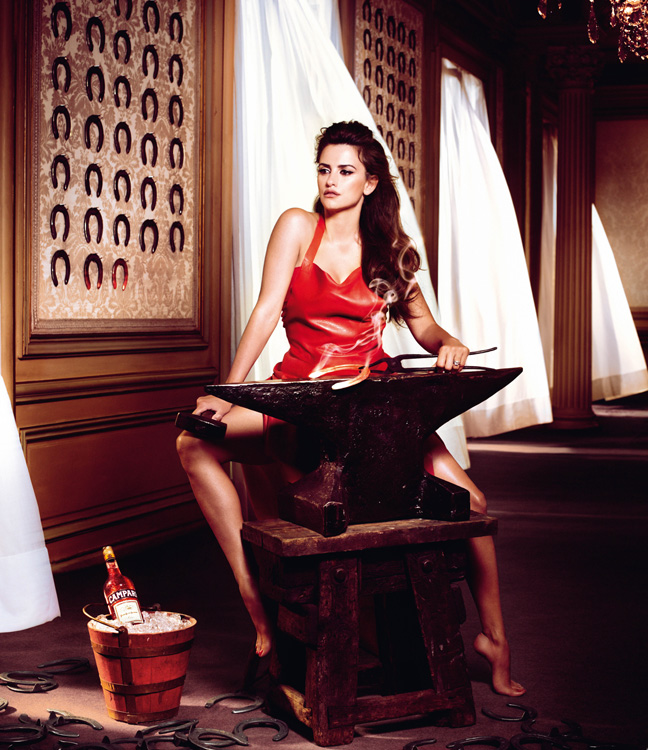 penelope cruz11 Penelope Cruz is Red Hot in the 2013 Campari Calendar