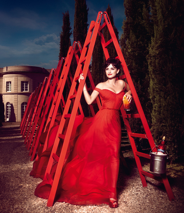 penelope cruz12 Penelope Cruz is Red Hot in the 2013 Campari Calendar