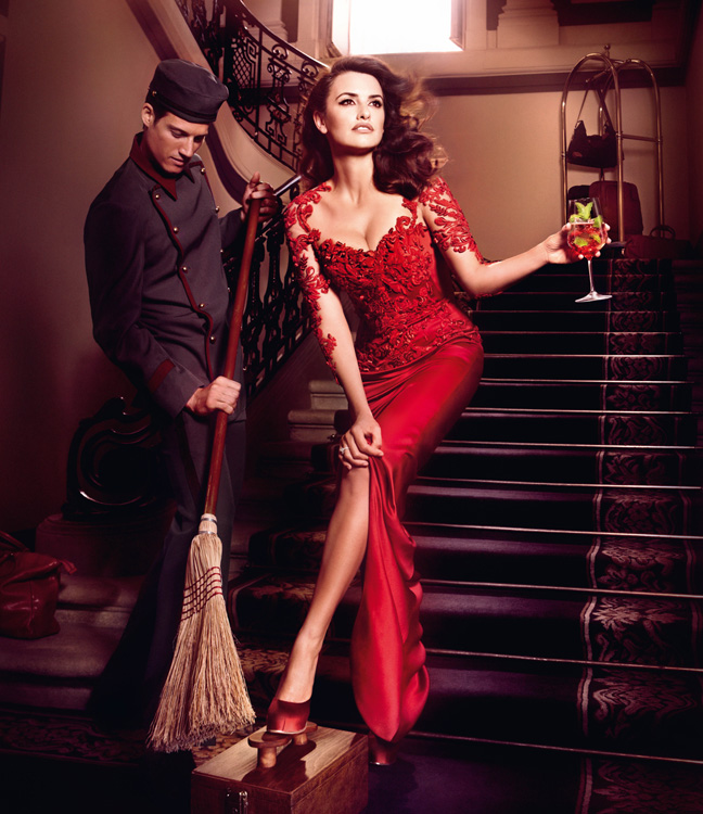 penelope cruz5 Penelope Cruz is Red Hot in the 2013 Campari Calendar