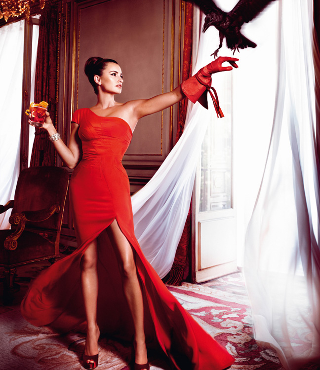penelope cruz7 Penelope Cruz is Red Hot in the 2013 Campari Calendar