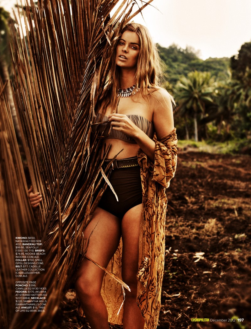 Robyn Lawley is a Nature Girl for Cosmopolitan Australia by Steven Chee